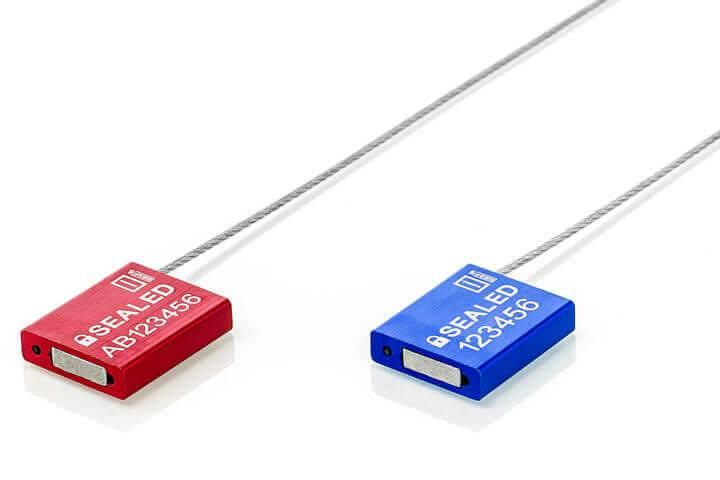 Aluminium kabelzegel CA 1.5 van Hoefon Security Seals